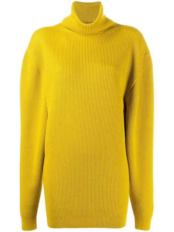 Fenty Oversized Turtleneck Sweater In Yellow