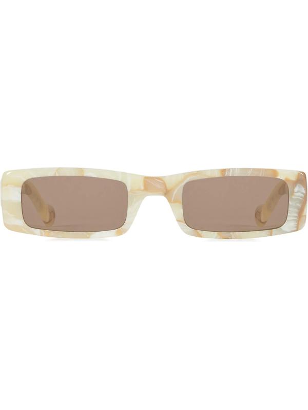 Fenty Women's Trouble 52mm Rectangular Sunglasses In White
