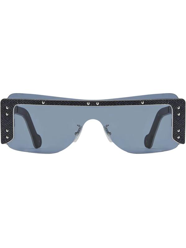 Fenty Women's Guarded 150mm Mask Sunglasses In Black