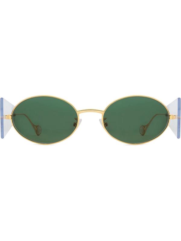 Fenty Women's Side Note 54mm Oval Sunglasses In Gold