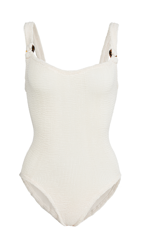 Hunza G Zora One-piece Swimsuit In Blush