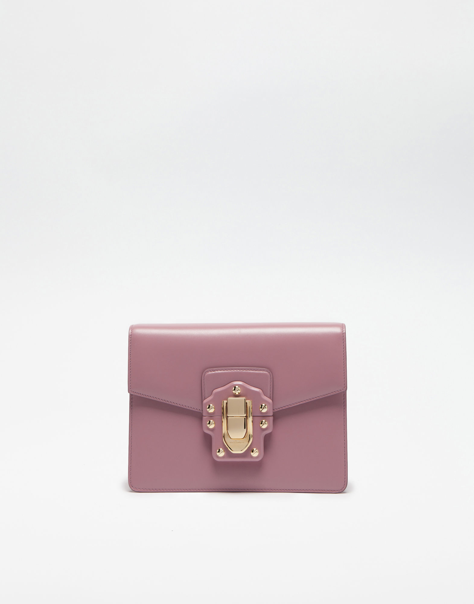 Dolce & Gabbana Leather Lucia Shoulder Bag In Powdered Pink