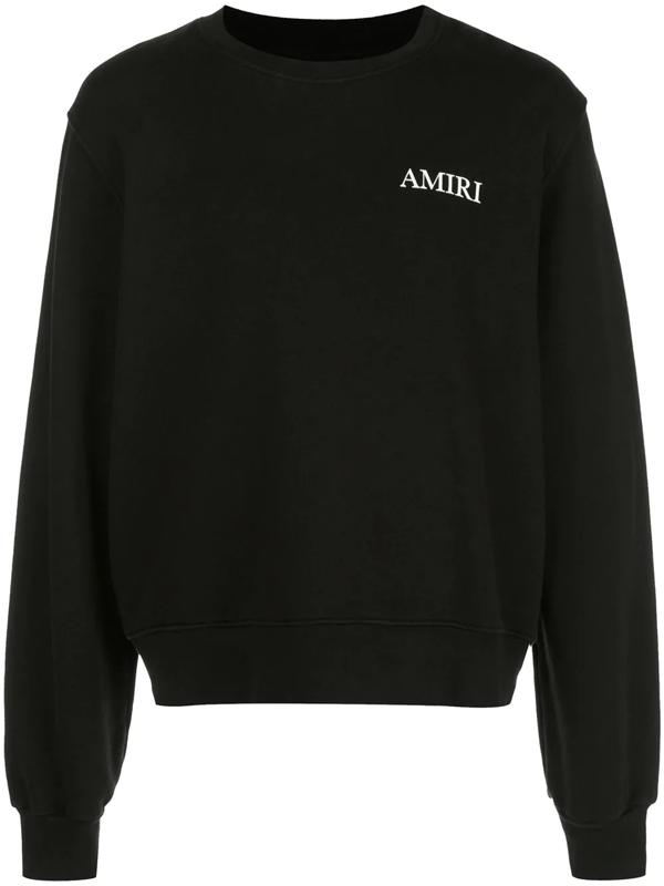 Amiri Black Large Logo Sweatshirt
