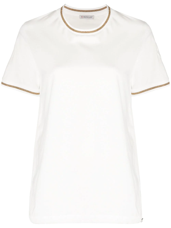Moncler T-shirt With Sparkling Details In White