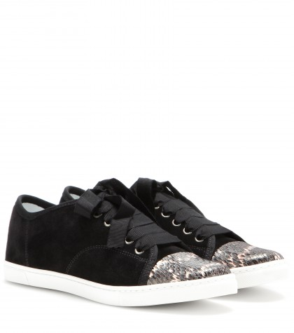 Lanvin Leather Sneakers In Llack