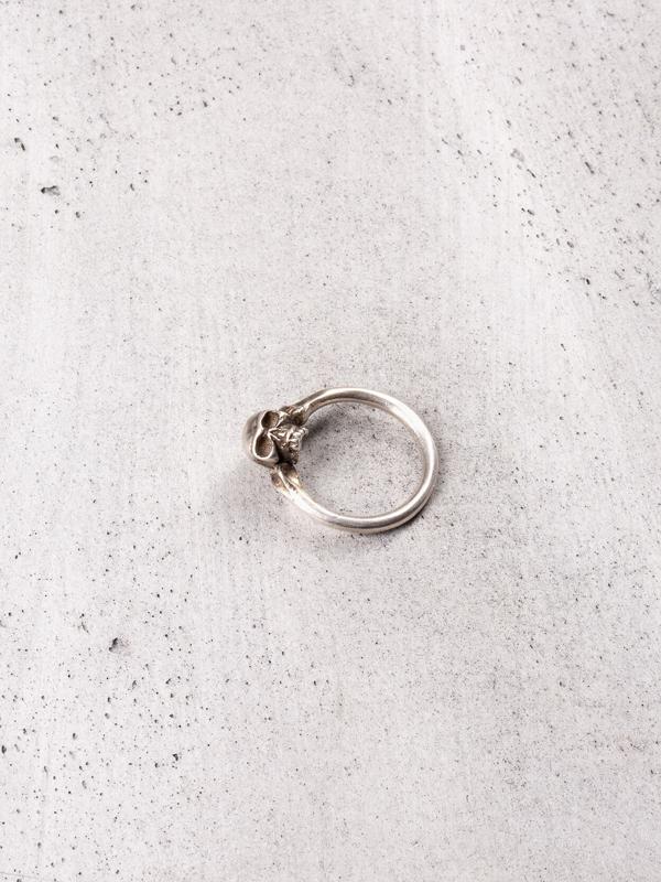 Werkstatt:münchen Skull Ring Fine In Metallic