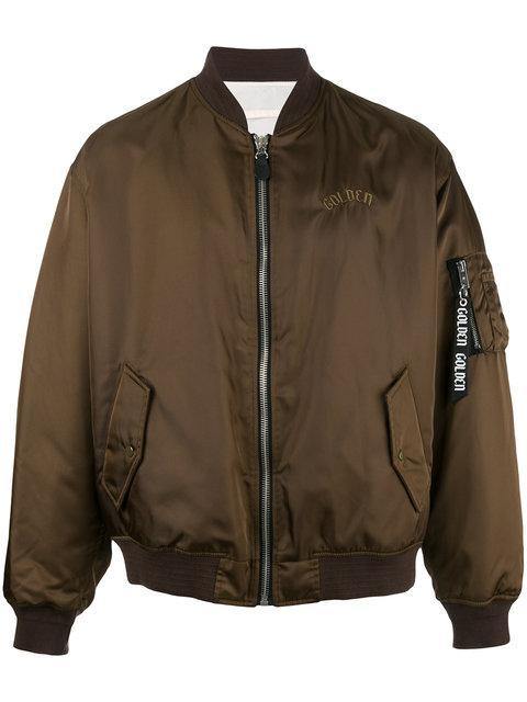 Golden Goose Deluxe Brand Oversized Bomber Jacket - Brown