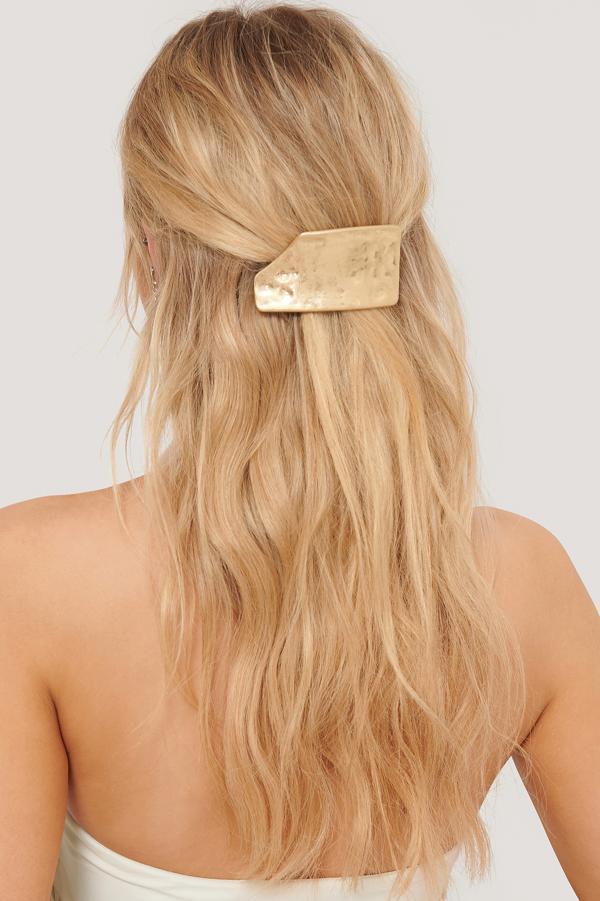 Na-kd Broken Look Matte Hairclip Gold