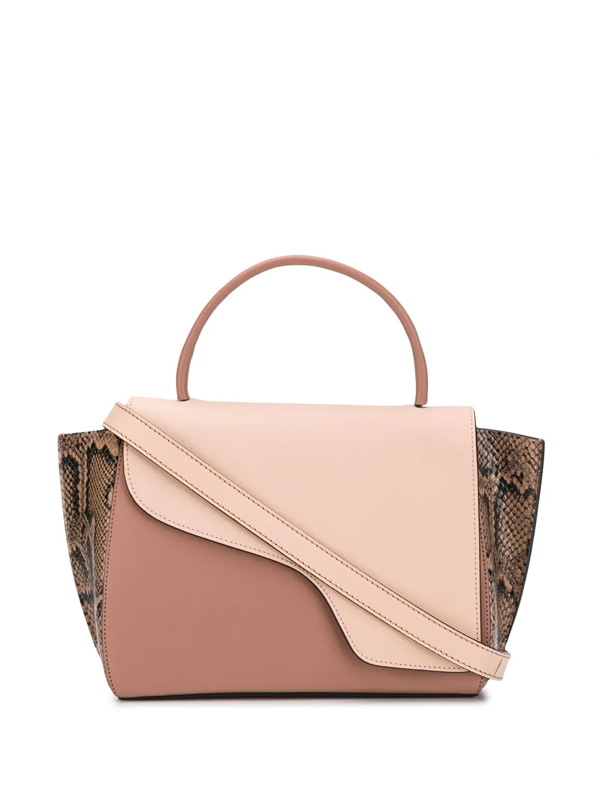 Atp Atelier Arezzo Panelled Tote Bag In Pink
