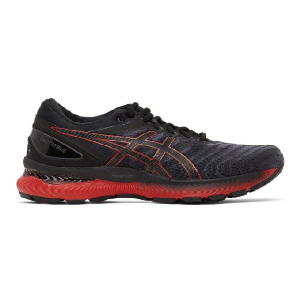 Asics Black And Red Gel-nimbus 22 Sneakers In 003 Black