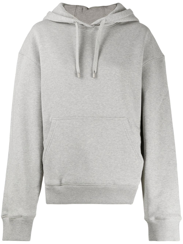 Fenty Rounded Cutout Hoodie In Grey