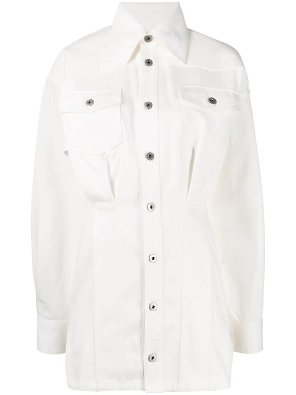 Fenty Denim Corset Dress In White
