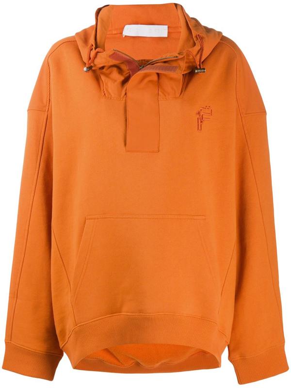 Fenty Dual-fabric Oversized Hoodie In Orange