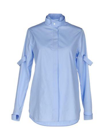 CourrÈges Solid Color Shirts & Blouses In Sky Blue