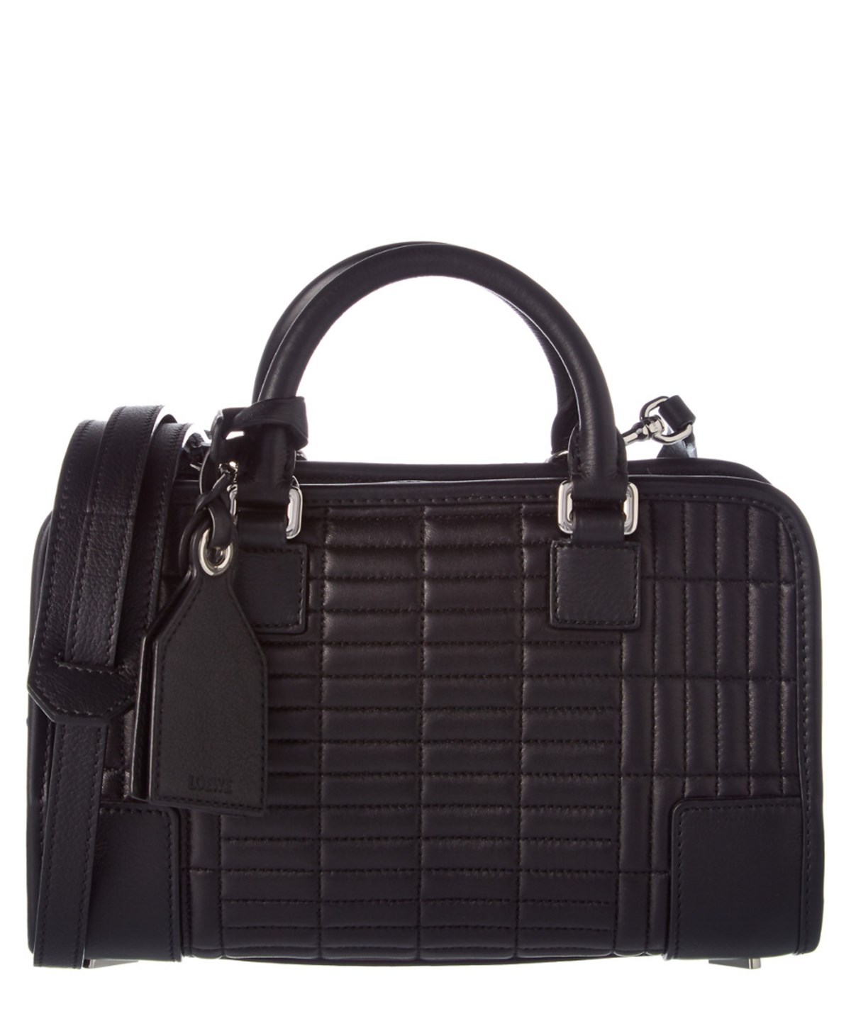 Loewe Amazona 23 Quilted Leather Satchel In Black