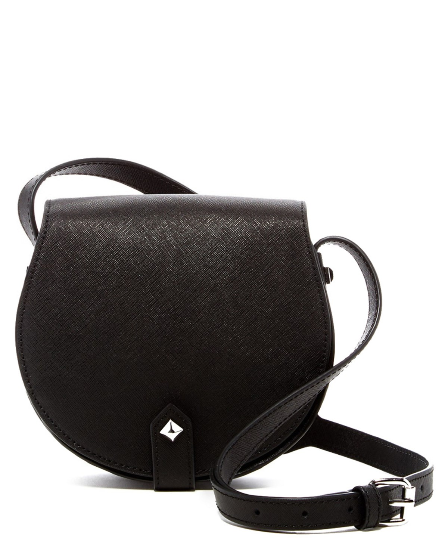 Rebecca Minkoff Skylar Mini Leather Crossbody In Black