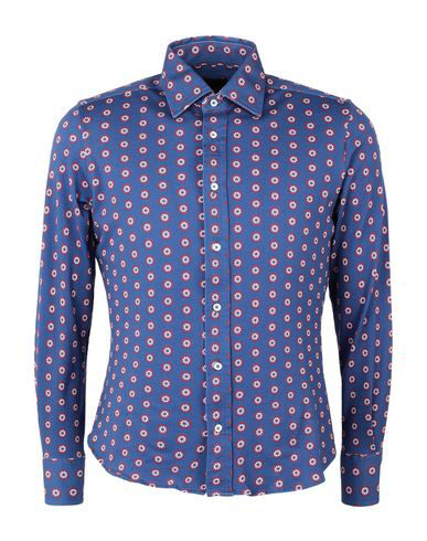 Luchino Camicie Patterned Shirt In Blue