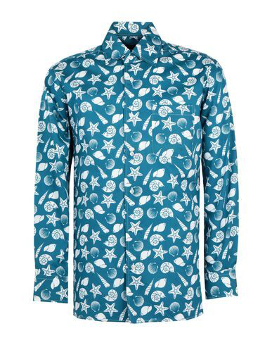 Luchino Camicie Patterned Shirt In Deep Jade