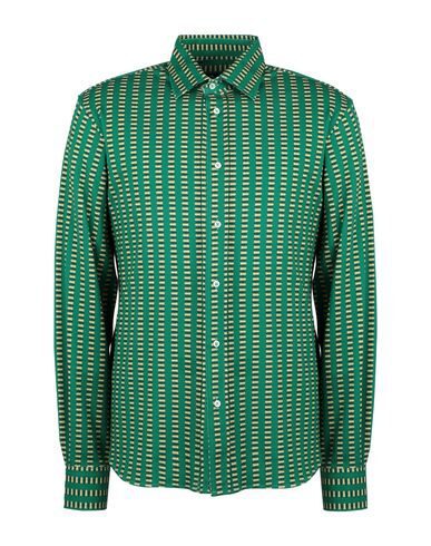 Luchino Camicie Patterned Shirt In Green
