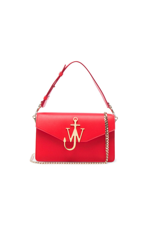Jw Anderson Logo Purse In Scarlet