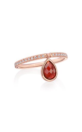 Nina Runsdorf Medium 18k Rose-gold Garnet And Diamond Flip Ring In Red