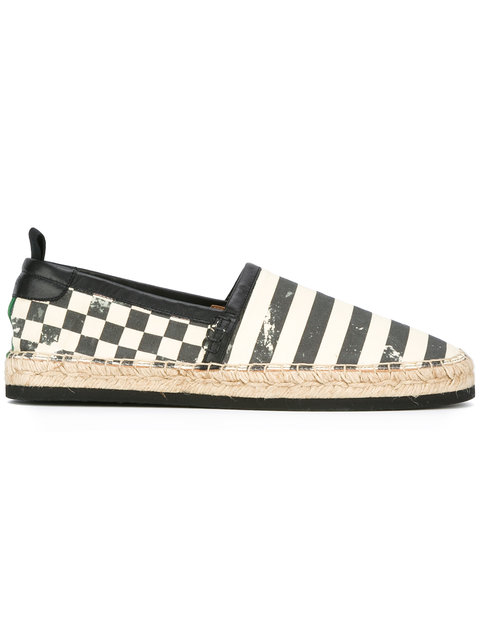 Marc Jacobs Stripe And Check Espadrilles
