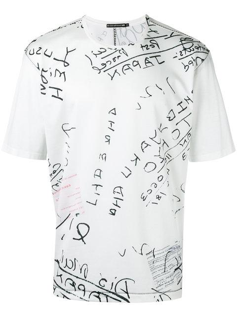 Issey Miyake Lettering Print T In White