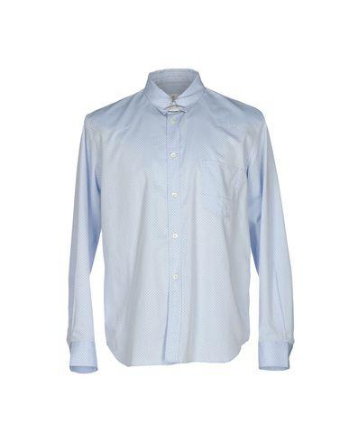 Golden Goose Patterned Shirt In Sky Blue