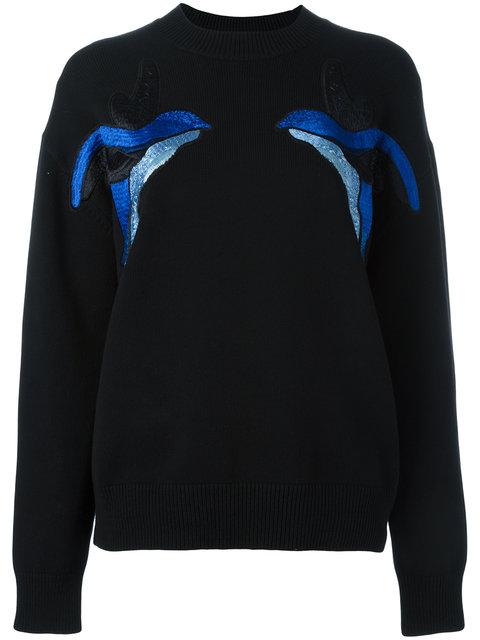 Victoria Victoria Beckham Birds Embroidery Jumper - Black