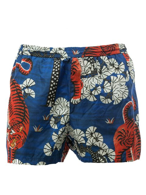 8d163d531e1b3 Gucci Bengal Print Swim Shorts In Blue | ModeSens