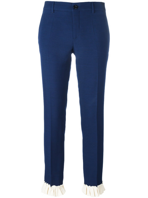 Gucci Frill Detail Slim Fit Trousers