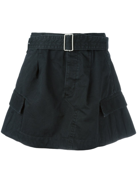 Marc Jacobs Belted Cargo Skirt In Black