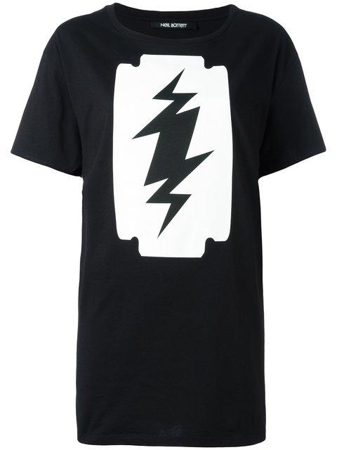 Neil Barrett Oversize Fit T-shirt In Nero