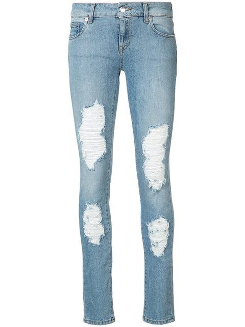 Marcelo Burlon County Of Milan Distressed Dixie Skinny Jeans