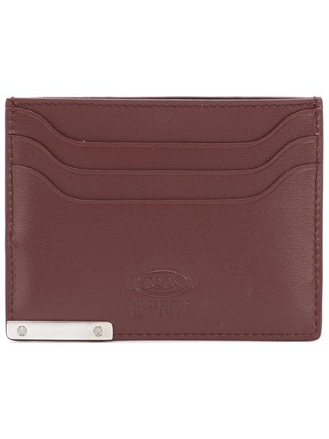 Tod's Logo Embossed Cardholder - Brown
