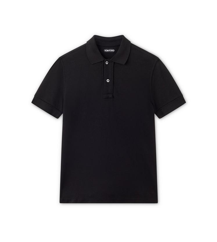 Tom Ford Tennis Piquet Short-sleeved Polo Shirt In Black