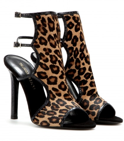 Tamara Mellon Trouble Maker Calf-Hair Sandals In Leopard