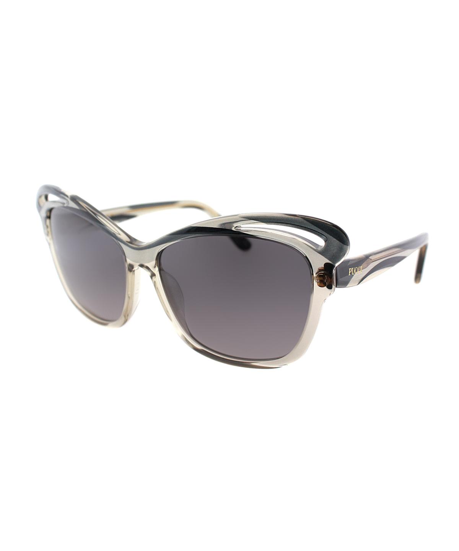 Emilio Pucci Square Plastic Sunglasses In Graphite