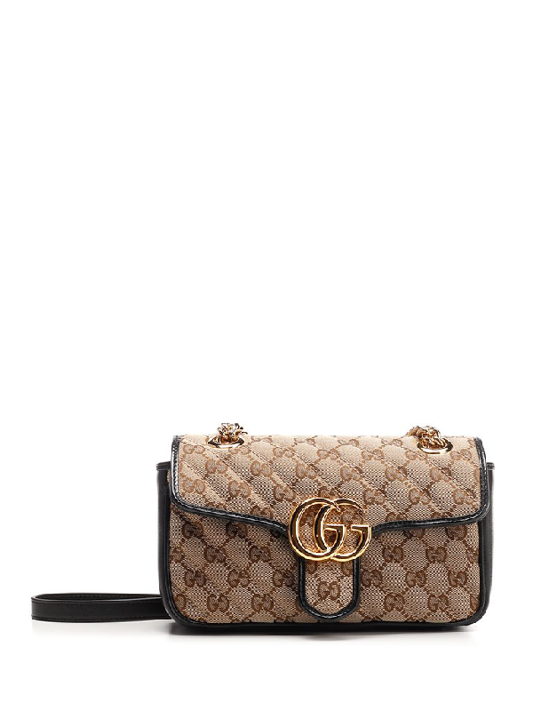 Gucci Gg Marmont Mini Bag In Beige