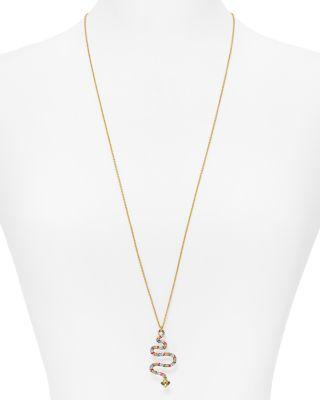 Kate Spade New York Snake Pendant Necklace, 30 In Multi