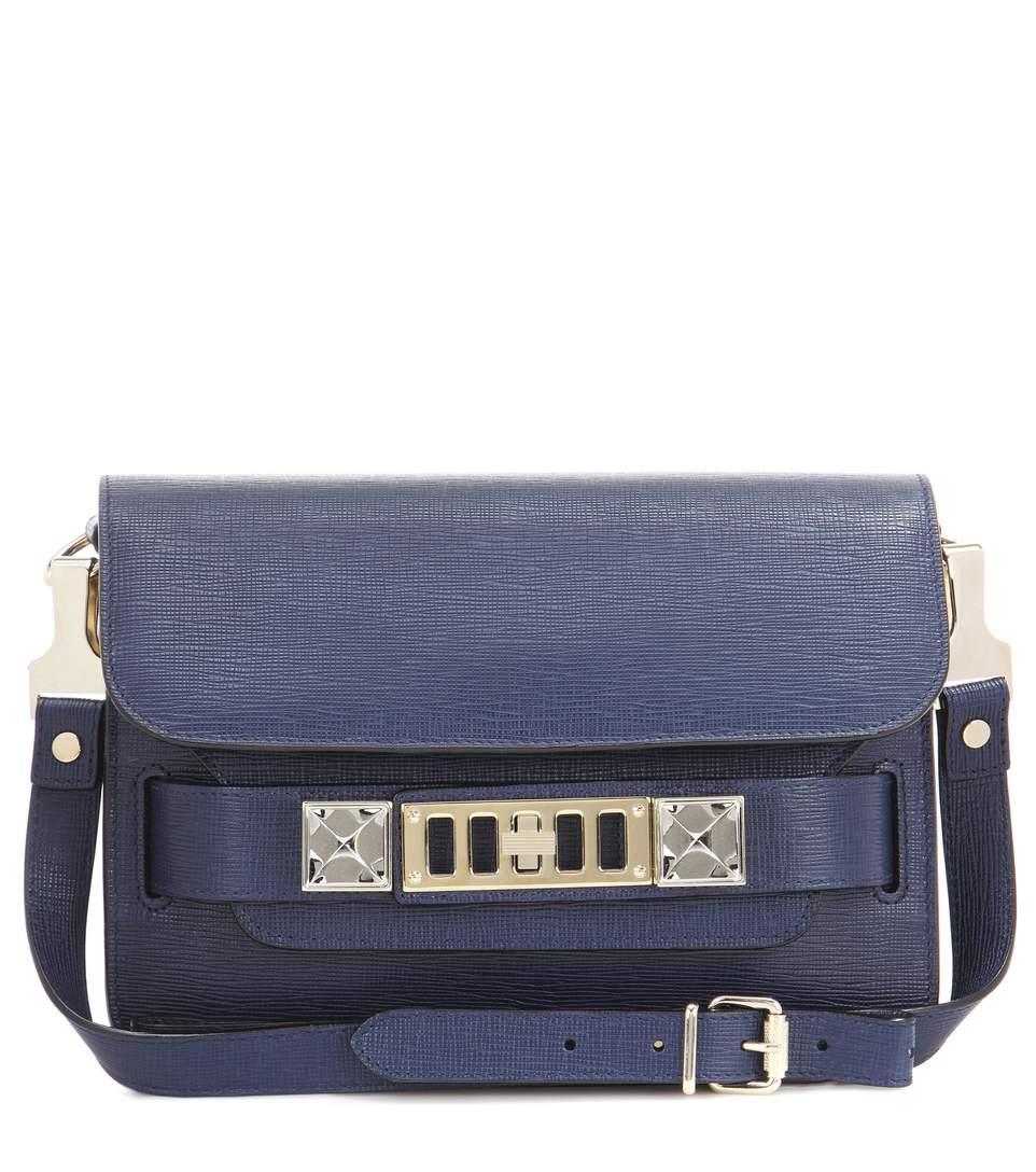 Proenza Schouler Ps11 Mini Classic Leather Shoulder Bag In Blue
