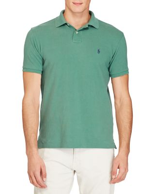 Polo Ralph Lauren Weathered Mesh Classic Fit Polo Shirt In Antique Green