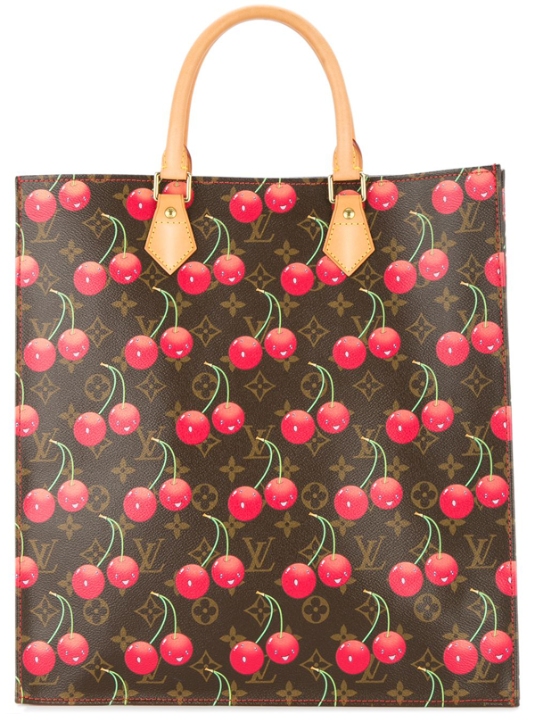 Pre-owned Louis Vuitton  Cherry Sac Plat Tote Bag In Brown