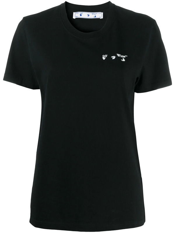 Off-white Off White Liquid Melt Arrow T-shirt In Black