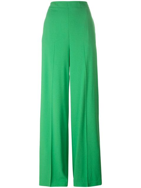 Msgm Straight Trousers In Green