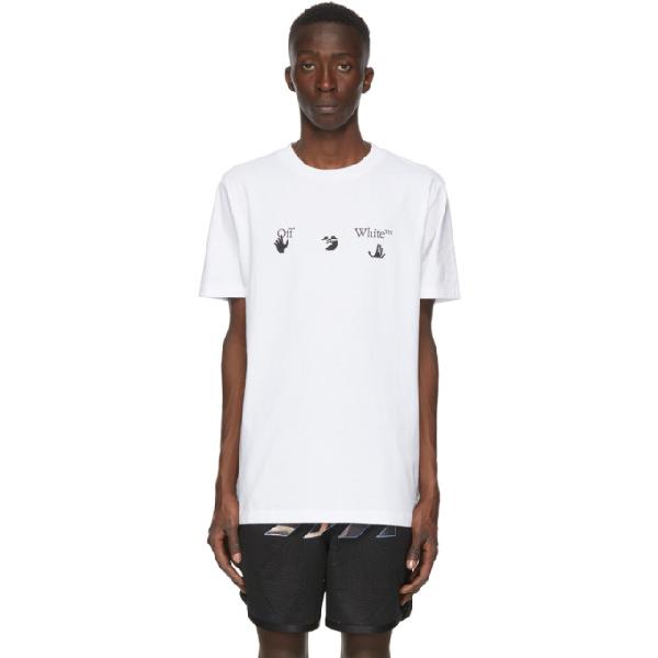 Off-white Big Logo Printed Cotton T-shirt In White