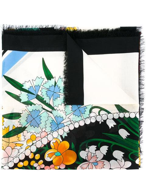 Fendi Floral Print Scarf