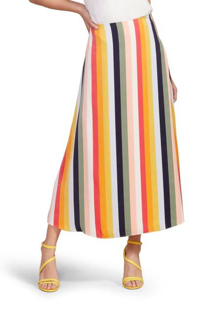 Cupcakes And Cashmere Pippa Stripe Midi Skirt In Multi