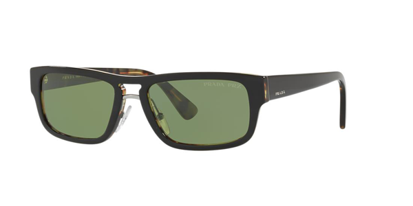 Prada Polarized Sunglasses, Pr 05vs 56 In Green