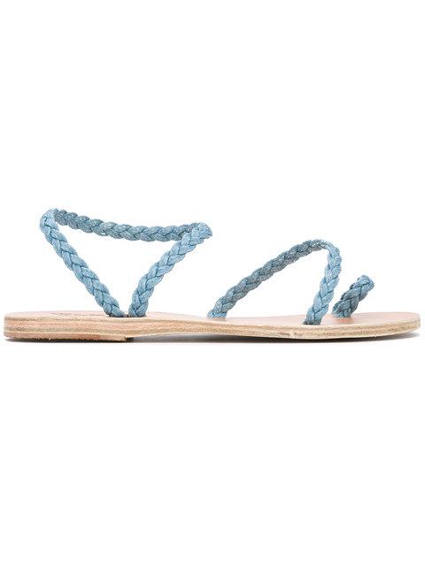 Ancient Greek Sandals 'eleftheria' Denim Sandals In Blue